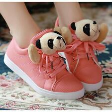 New Arrive CUTE Womens Lace Up High Top ANKLE Sneaker Shoes tennis Panda shoes