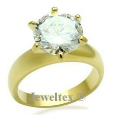 18ct Yellow Gold (GP) Engagement Solitaire Ring Set with 3.5ct Stone. RRP $89