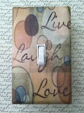 Live Laugh Love Light Switch Plate Cover Choose Your Own Size