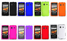 1 Solid Rubber Feel Skin Hard Case For SAMSUNG GALAXY PREVAIL SPH-M820 Phone
