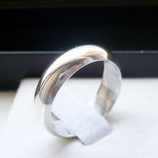 5mm 925 STERLING SILVER MEN'S WEDDING BAND RING SIZES 5-13