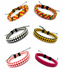 10mm Trendy Chocolate Red Yellow Black Weaving Genuine Leather Bracelet Unisex