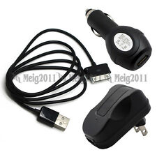 "USB Cable+Car+AC Charger for Samsung Galaxy Tab 7.7"" GT-P6800 GT-P6810 SCH-I815"