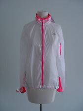 NEW ADIDAS WOMENS CLIMA SPEED RUNNING REFLECTIVE RAIN JACKET WHITE ULTRAPOP