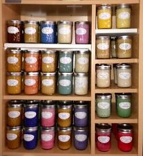 Assorted Aromatherapy Soy Wax Candle in 8oz Jelly Jar = Highly Scented