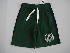 GAP KIDS Boy's Green and Black Athletic Shorts Size XS NWT