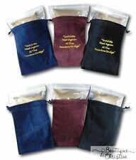Rainbow Bridge Velvet Embroidered Urn Bags Cremains Cremation