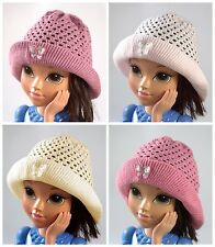 GIRLS HAT SPRING / AUTUMN GIRLS KNITTED HATS - size: 46-52 cm / Age: 2-6 years