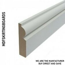 White Primed MDF Architrave - 18x69mm Torus - matching Skirting Board available