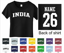 Country of India Custom Personalized Name & Number Infant or Toddler T-shirt