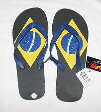 NEW  BRASIL  FLIP FLOP SANDALS  BLACK  *CHOOSE SIZE*  FREE SHIPPING
