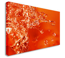 Abstract Art Canvas Orange Splash Wall Art Picture Art Cheap Print