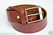 Brown High Quality Cow Hide Leather Belt 40mm Width