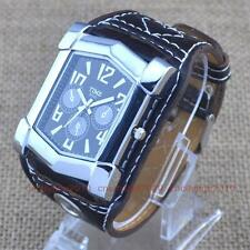 COOL Racing Car Face Big Leather Band Sports Mens Boy Quartz Fashion Wrist Watch