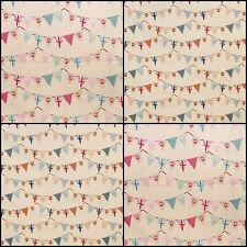 Fryetts Bunting Vintage Shabby Chic Designer Curtain Upholstery Fabric £9.50 mtr