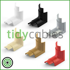 D-Line 30x15 Internal Bend for TV Cable Cover Wire Hiding Trunking (All Colours)