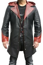 DEVIL MAY CRY 5 - DMC 5 - DANTE COW HIDE LEATHER TRENCH COAT COSTUME JACKET