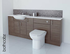 GREY BROWN BATHROOM FITTED FURNITURE 2100MM
