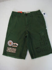 GAP KIDS Flat Front Dark Green Shorts Size 12 NWT