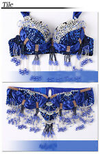 D &DD CUP Belly Dance Costume Outfit Set Bra Belt Carnival Bollywood 2 PCS