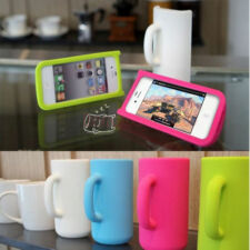 Mug Cup 3D Design Phone Case Silicone Skin Back Protector Cover For iphone 4 4S