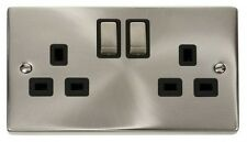 High Quality Victorian Satin Chrome Switches and Sockets - Full Matching Range