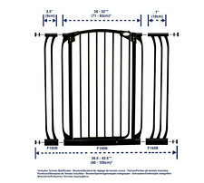 DreamBaby L782 Pressure Mounted Extra-Tall Swing Close Security Gate Combo Pack