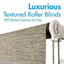 TEXTURED BLOCKOUT Roller Blinds Custom Made - AUS Made TOP QUALITY!