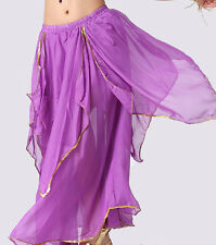 New Dancing Costume Skirt Belly Dance Costume skirt with Gold edge 9 Colours