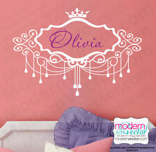 PERSONALIZED Chandelier Crown Name or Monogram Vinyl Wall Decal Sticker Nursery