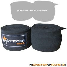 """LYCRA MONSTER WRAPS for BIG HANDS - Meister MMA 180"""" Boxing Hand Wraps (PAIR)"""