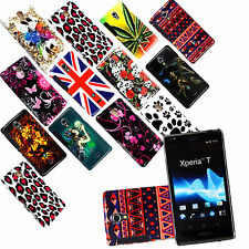 FOR SONY XPERIA T LT30i LT30P STYLISH PRINTED HARD SHELL CASE COVER+FREE GUARD