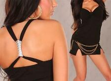 WOMENS CLOTHING SEXY LITTLE BLACK CROSSOVER TOP & BLACK SKIRT INCL PLUS SIZES