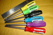Enderes Tools 2 in 1 Mini Pocket Prescission Screwdriver 7 Colors Made in USA