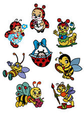 "ABC Designs Ladybugs-N-Bees Machine Embroidery Designs SET 4""x4"" hoop"