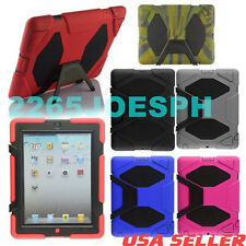 Ipad 2/3/4 Survivor Defender Series Hybrid Hard Cover Case Skin Kids Shock Proof