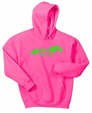 JUST RIDE HORSE LADIES HOT PINK HOODIE SWEAT SHIRT PONY COW GIRL SADDLE TACK