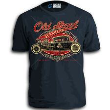 Old School Gearhead Adult Vintage Classic Old Truck Hot Rod T-Shirt Top Live to