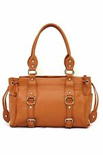FFANY Genuine Leather Handbag 10074 Medium Fashion Tote Shopping Purse ON SALE