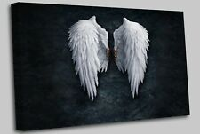 Banksy White Angel Wings London Street Art Wall Picture Canvas Prints Art Cheap