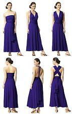 Multi Way Convertible Infinity Wrap Cocktail Evening Party Jersey Dress-4 colors
