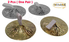 """2PCS (ONE PAIR) BELLY DANCE HIGH QUALITY 2"""" FINGER CYMBALS ZILLS BRASS 423"""