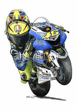 Valentino Rossi - The Doctor 2013 Yamaha YZR-M1 Cartoon by Billy fine art print