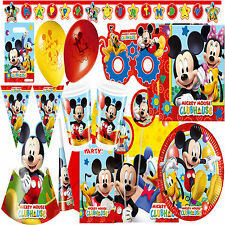 New Disney Playful Mickey Mouse Clubhouse Party Supplies Tableware Decorations