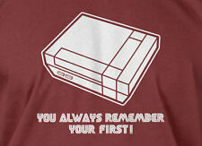 You Always Remember Your First T-shirt Funny Video Game Geek Mens Ladies T-shirt