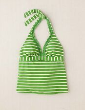 Boden Women's Brand New Ruffle Trim Tankini Top - List Price $44 - Apple Stripe