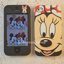 Cartoon cute Black Minnie mouse red bow Fullbody case cover for iphone 5S 5C 4S