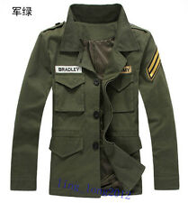 New VINTAGE CLASSIC Slim Fit Military Jacket men Cotton-padded clothes