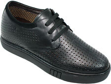 """CALDEN K251082 - 2.6"""" Taller Elevator Height Increase Perforated Leather Casuals"""