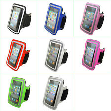 Gym Sports Running Jogging Leather Armband Case Pouch Cover Skin For iPhone iPod
